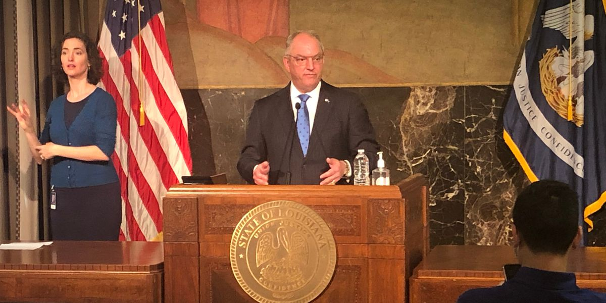Gov. Edwards to address state about COVID-19 response at 2:30 p.m.; EBR Parish has highest number of new cases