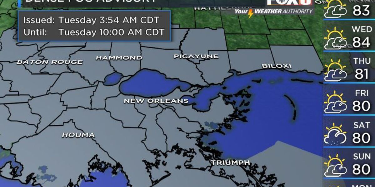 Your Weather Authority: Foggy morning, but clear around noon