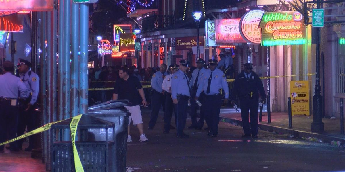 Graphic video: NOPD investigating shooting on Bourbon Street