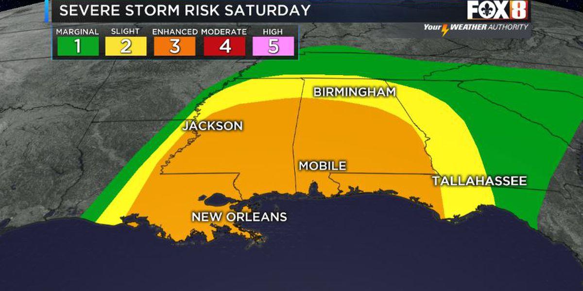 Severe storms still possible Saturday