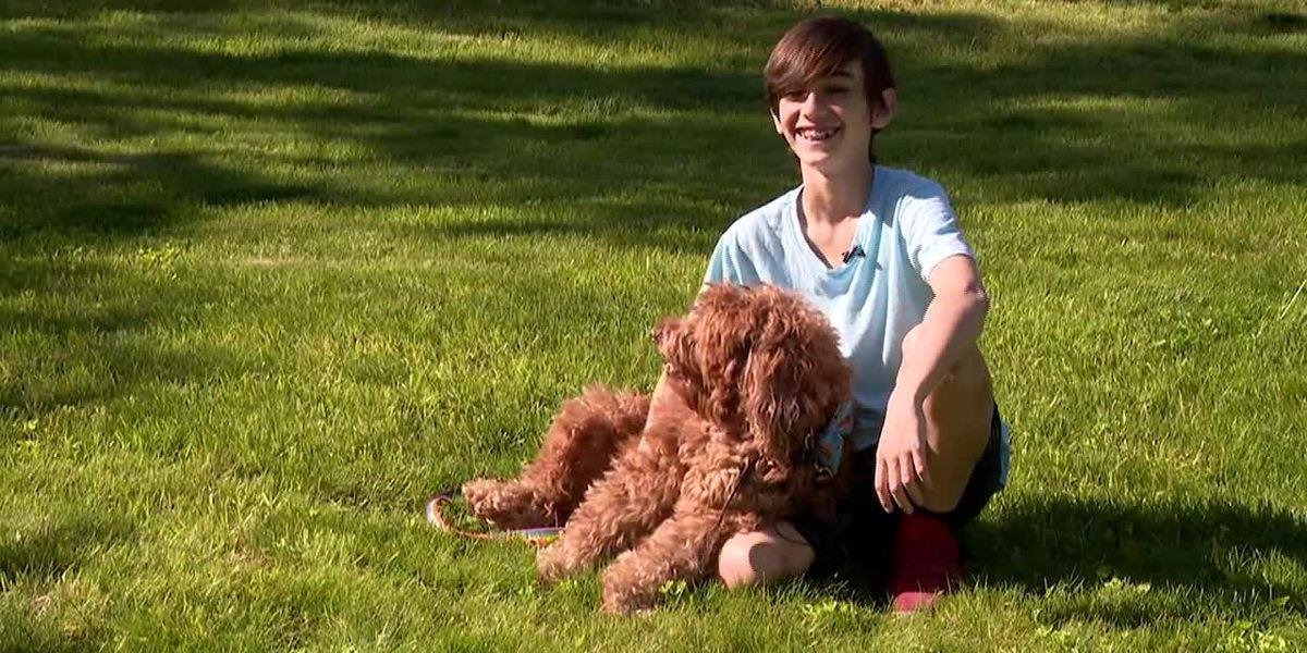 Boy performs Heimlich maneuver to save choking dog