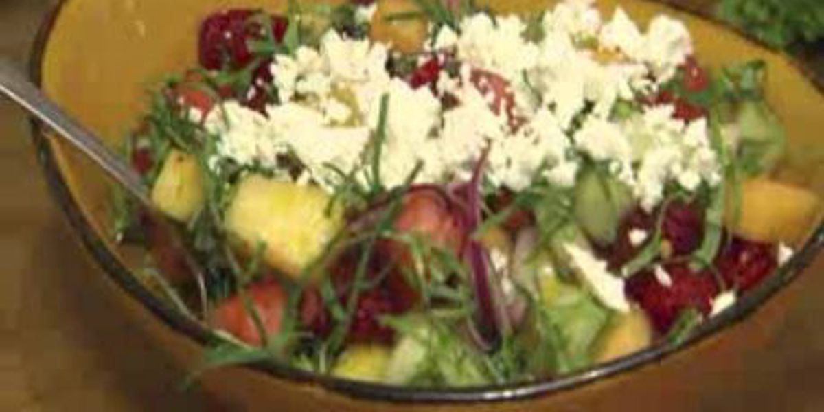 Chef John Folse: Summer melon and berry salad with watermelon vinaigrette