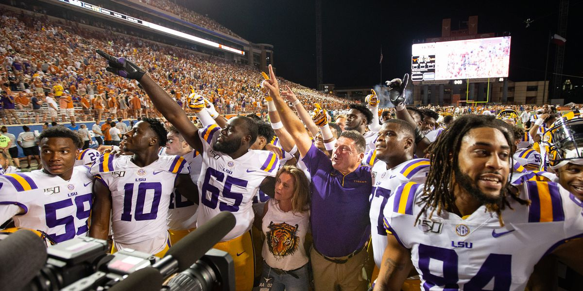 LSU moves up in both polls after big win over Texas