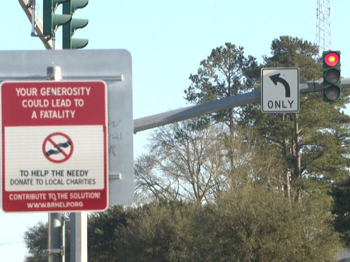 'Your generosity could lead to a fatality:' Mayor-President's office warning the public of aggressive panhandlers with new signs