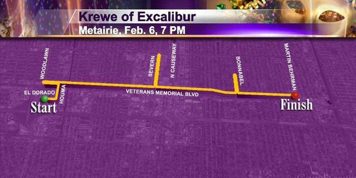 Fri 2/6 Metairie 7pm Krewe of Excalibur