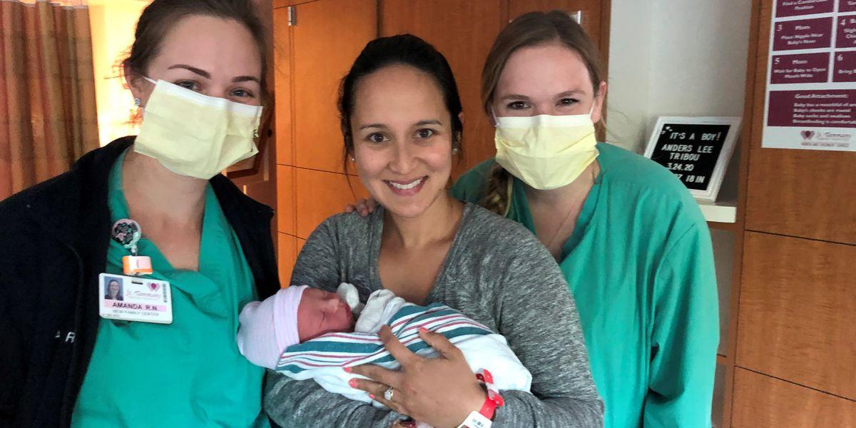 Family welcomes newborn in St. Tammany Parish amid coronavirus precautions