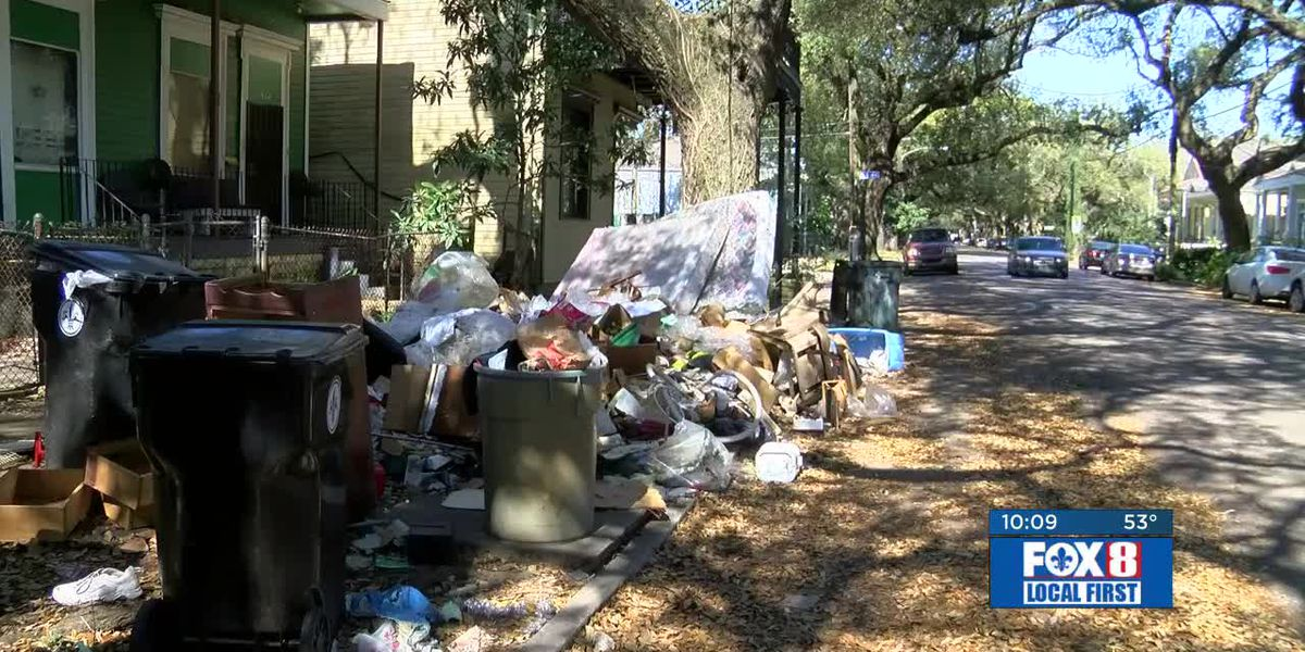 FOX 8 Defenders: Trash left outside home after eviction leaves Irish Channel residents frustrated