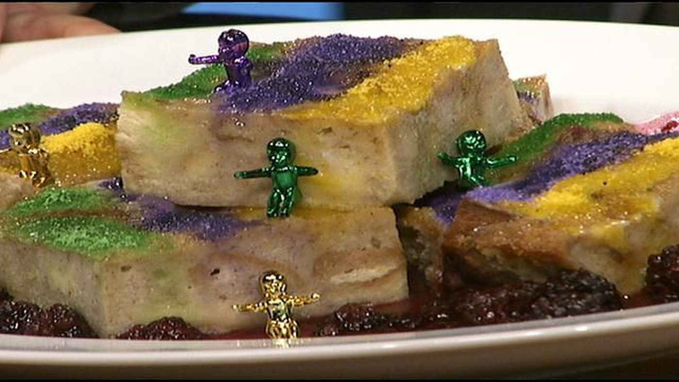 King Cake Bread Pudding from Emeril's
