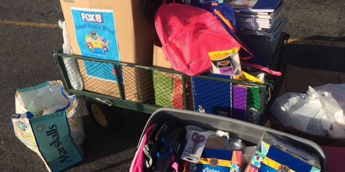Fox 8, Salvation Army set to give away donated school supplies today