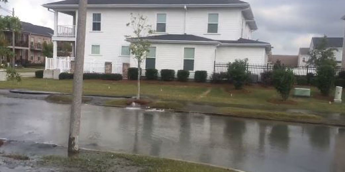 Broken water main causes street flooding in Central City