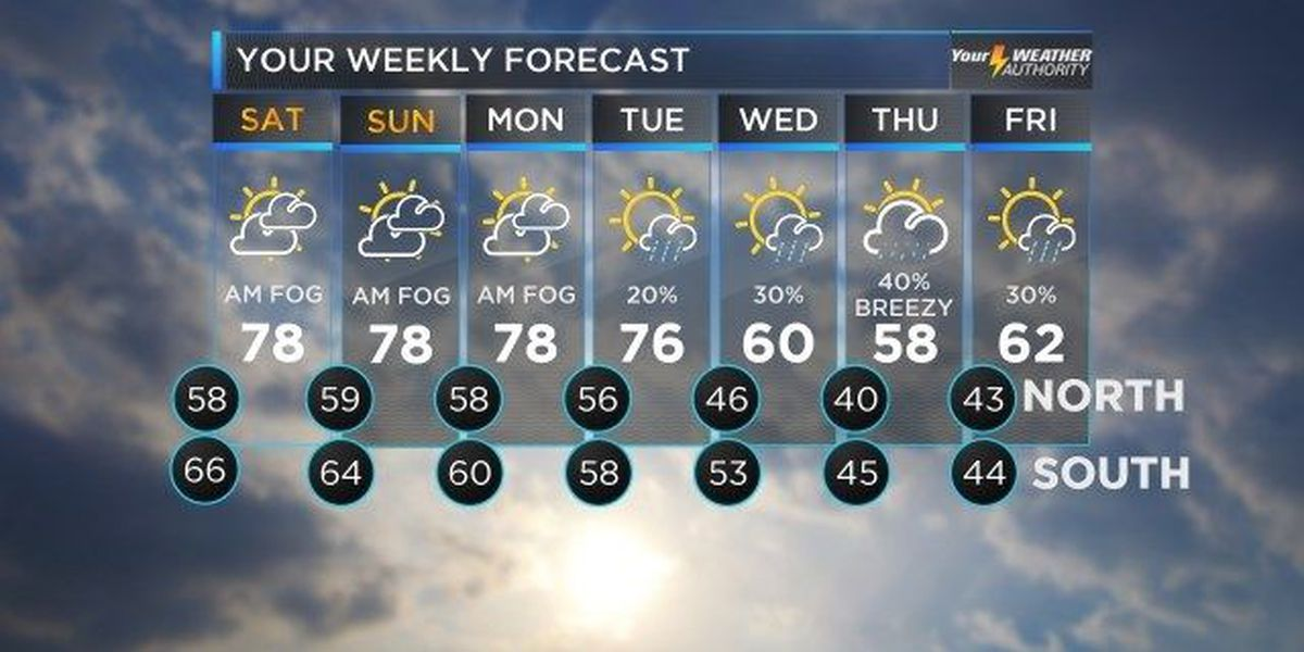 Nicondra: Patchy fog could cause problems over the weekend