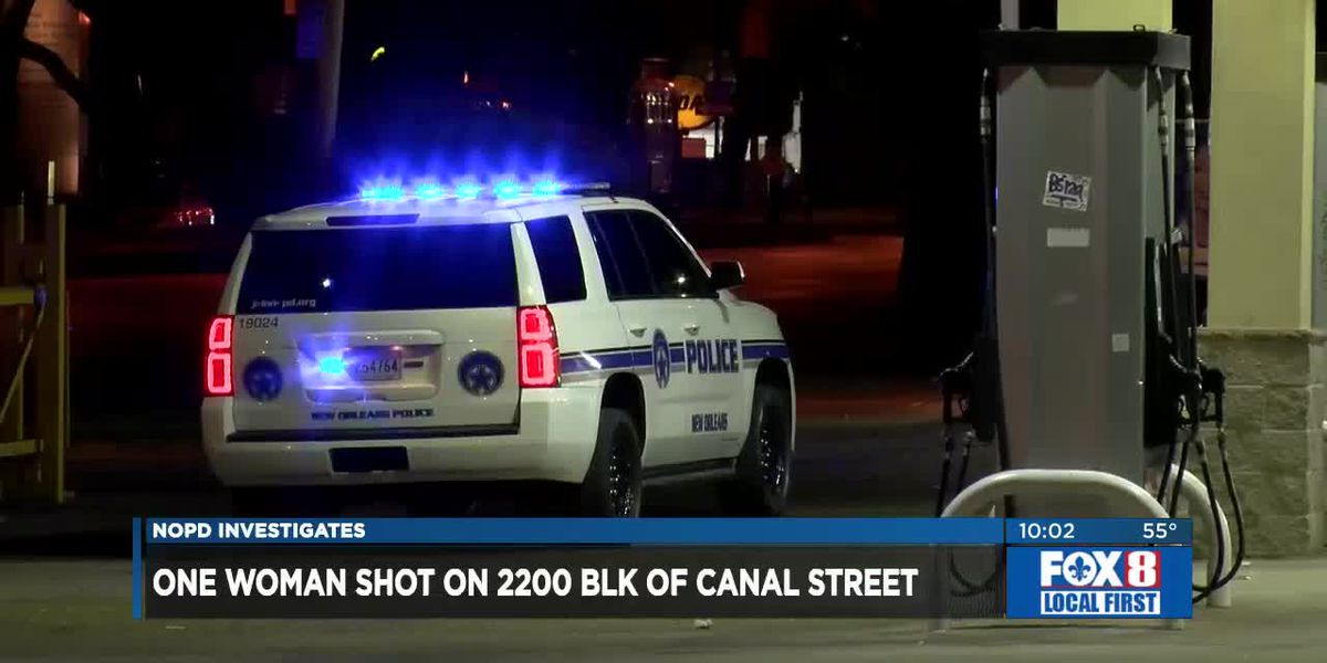 Woman shot on Canal Street