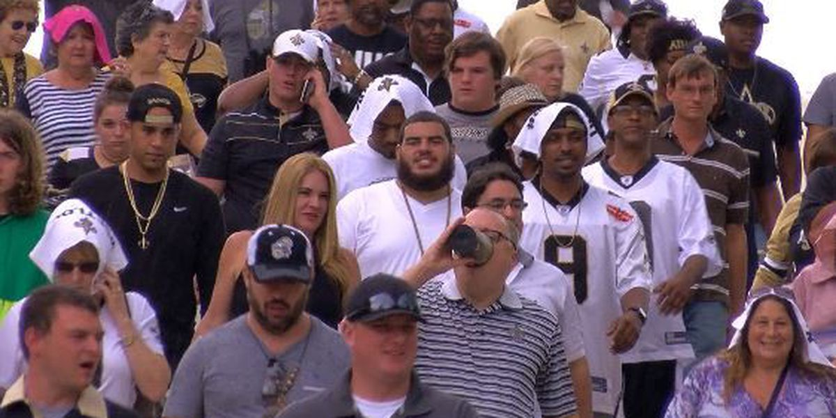 """Saints fans find """"silver"""" lining in loss to Raiders"""
