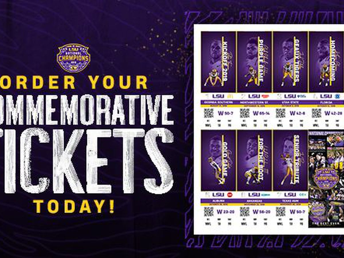 Order your LSU football commemorative tickets