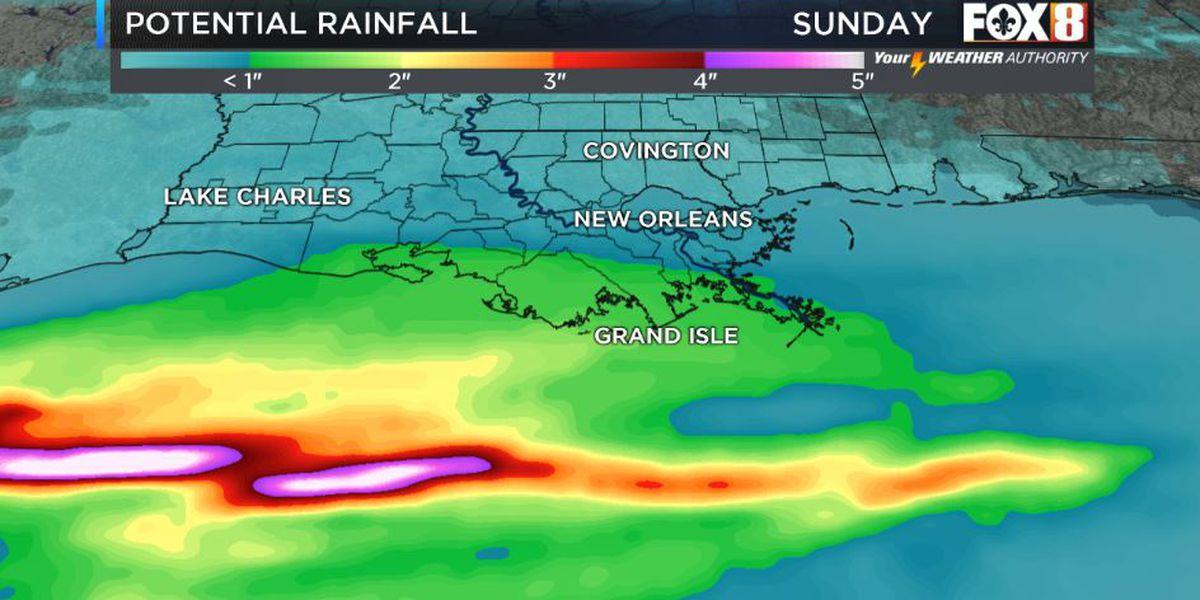 Rain returns Sunday