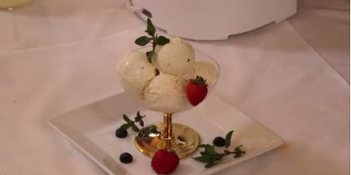 Chef John Folse: Lavender creole cream cheese ice cream