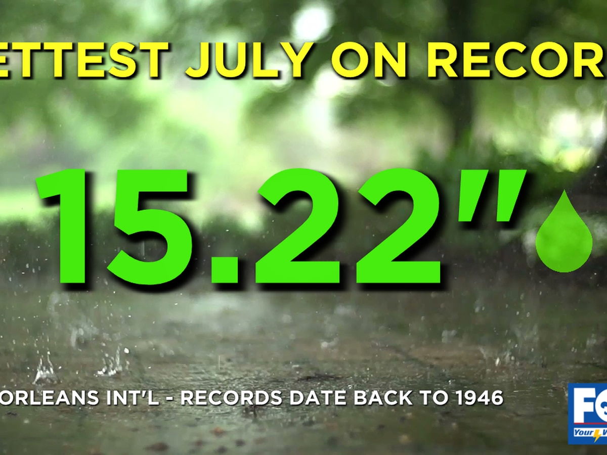 It's official! July 2020 was the wettest on record