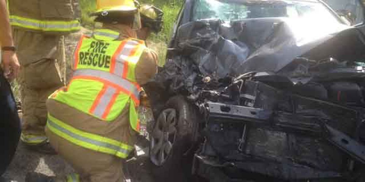 Pregnant mother airlifted to hospital after car collides with garbage truck