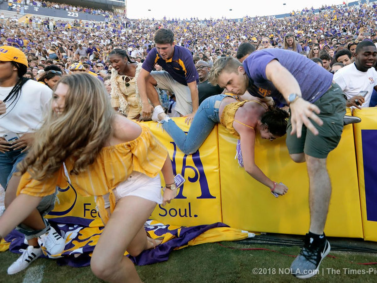 LSU players recount crazy scene after win over Georgia