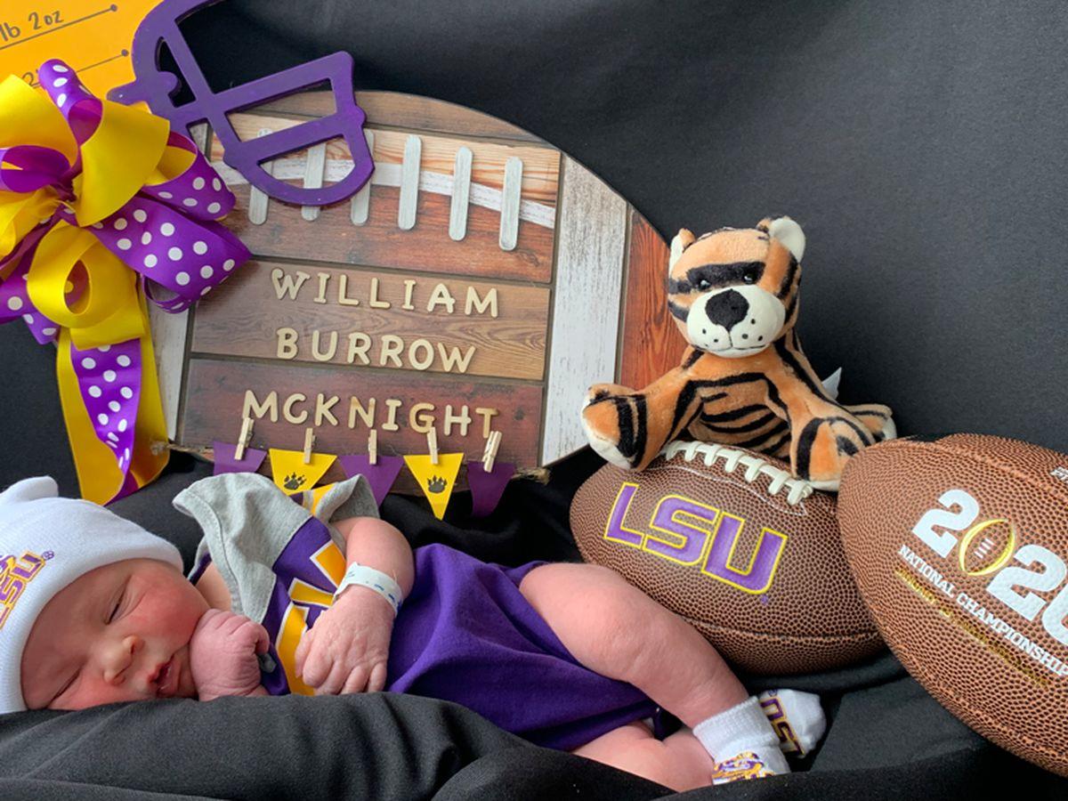 Baby named after Joe Burrow delivered at Ochsner Medical Center - Baton Rouge
