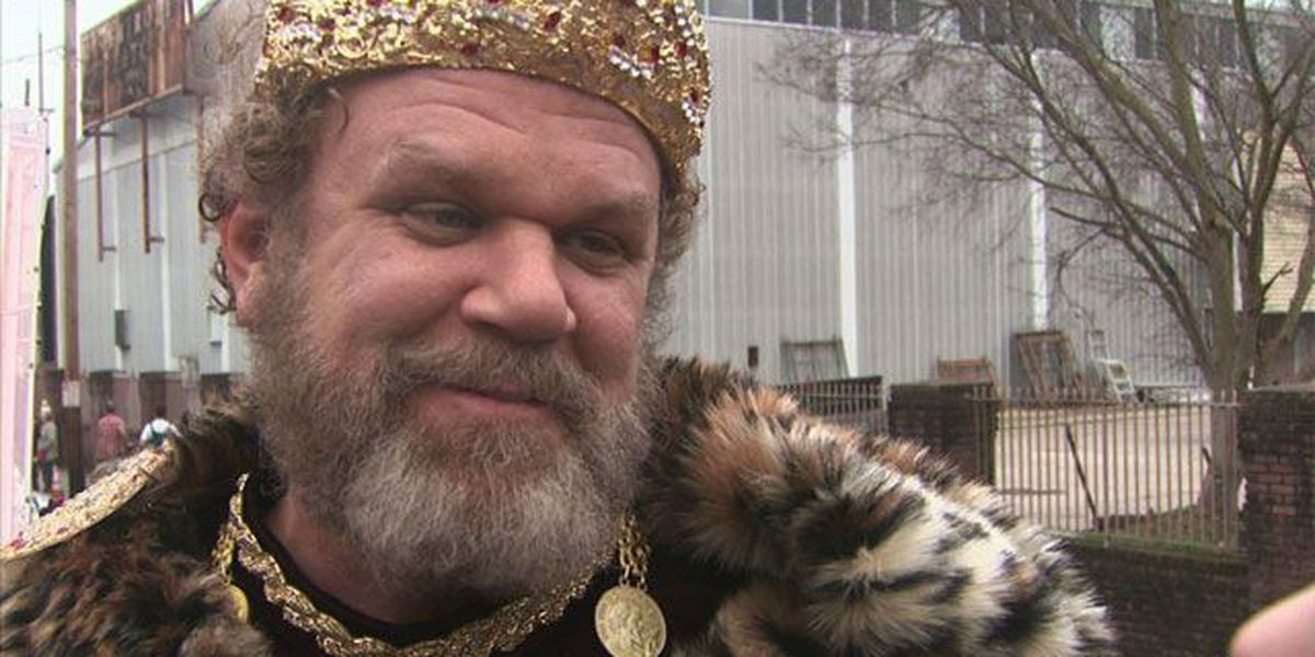 It's good to be king: Actor John C. Reilly reigns as Bacchus XLVI