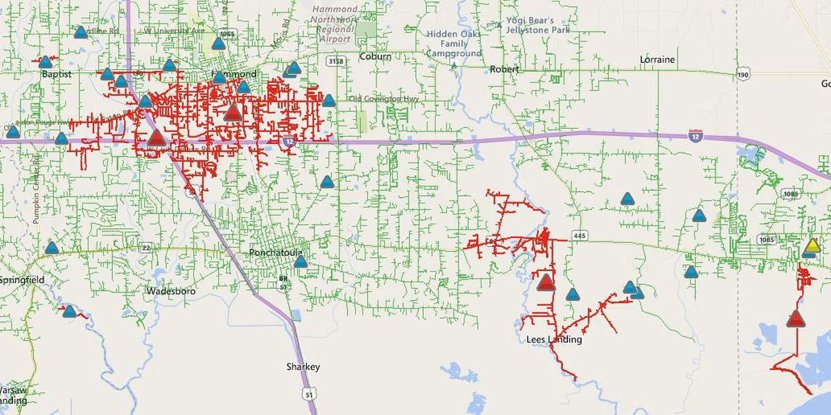 Entergy: More than 7800 people without power on the Northshore