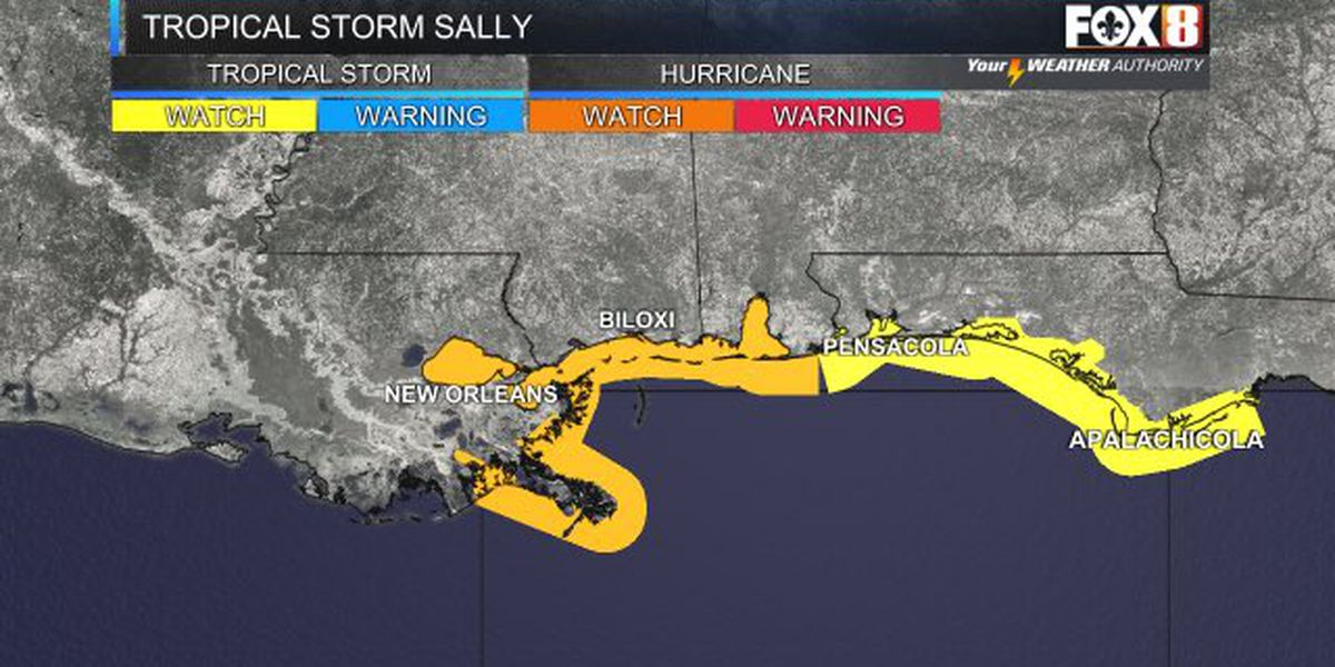 New Orleans city officials discuss preparations for Tropical Storm Sally