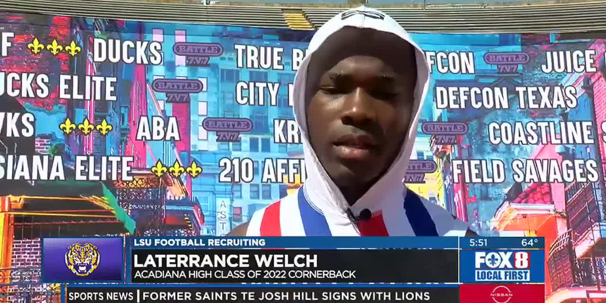 Acadiana CB Laterrence Welch ready to wear the Purple and Gold of LSU