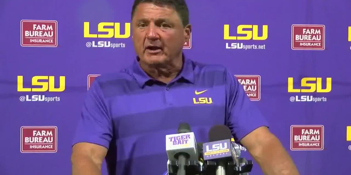 Coach Ed Orgeron update on fall practice
