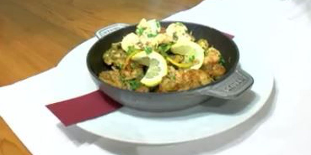 Chef John Folse: Lite creole shrimp with garlic & lemon