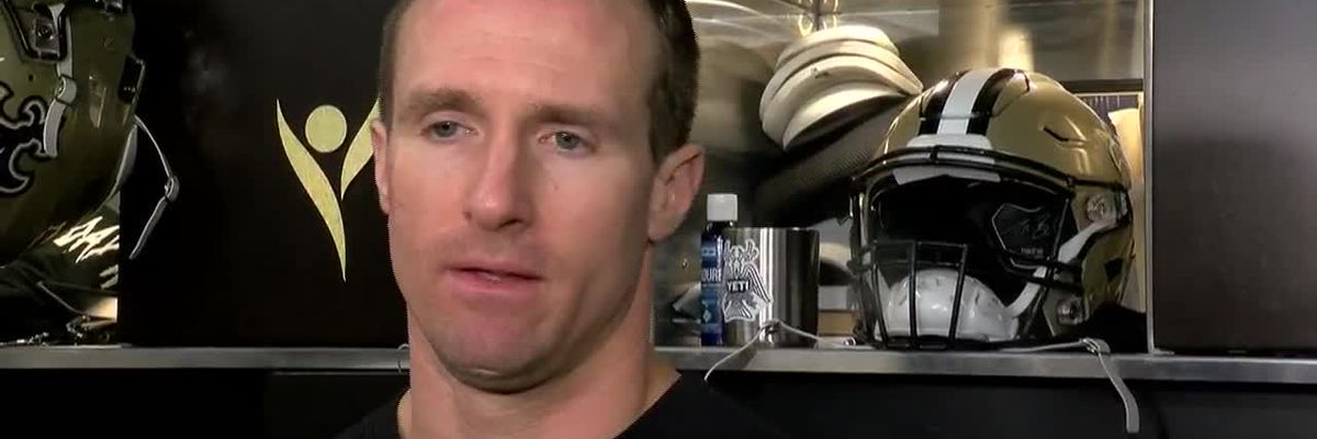 Drew Brees talks to the media before week 11 matchup against the Eagles