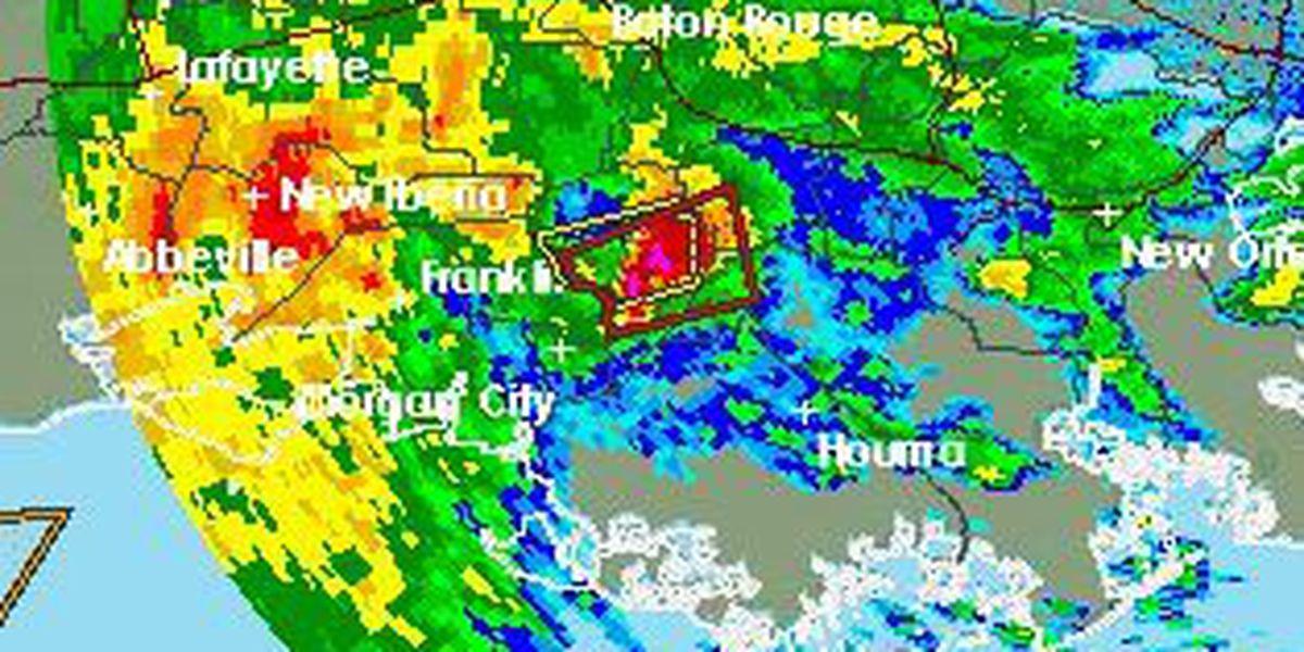 Tornado warning issued for Lafourche, Assumption, St. James, St. John, Terrebonne parishes