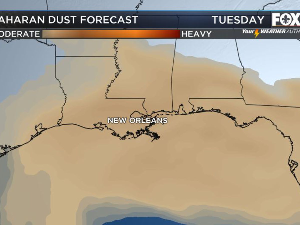 Dusty skies will continue
