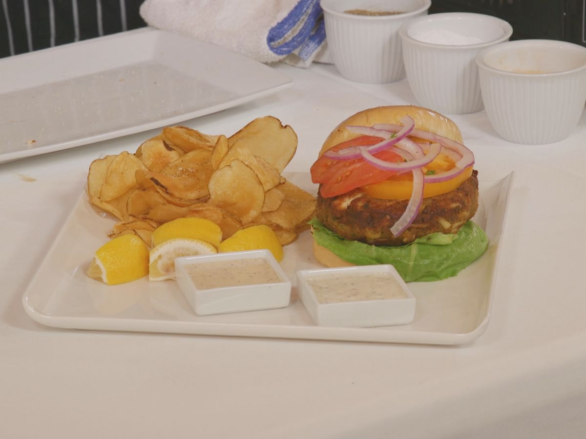 The Ultimate Crab Cake Burger