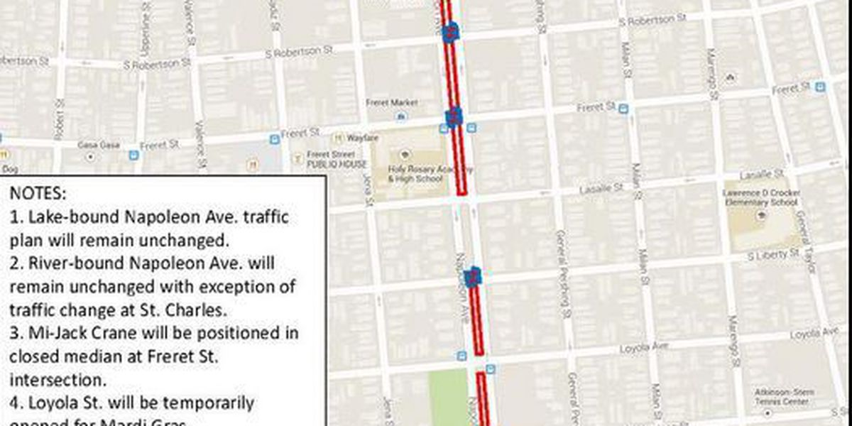MAPS: Neutral ground, intersection closures to affect Mardi Gras parade routes