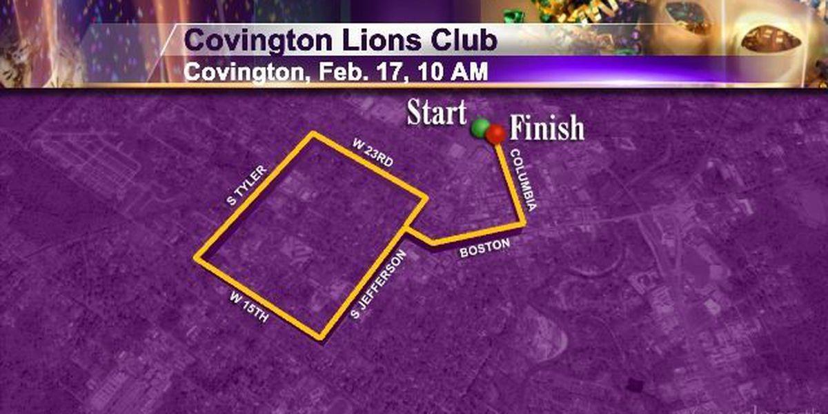 Tuesday 2/17 Covington Lions and Krewe of Covington