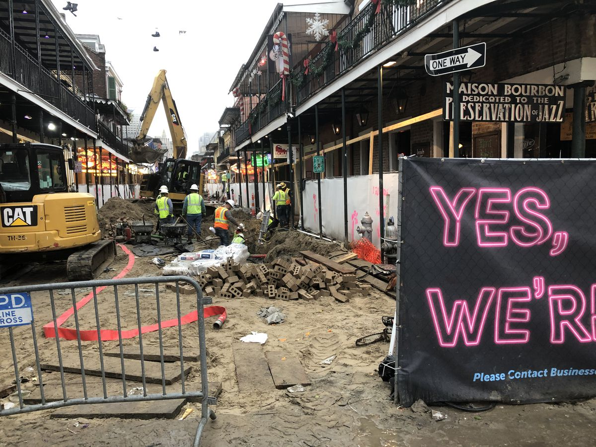 Bourbon Street construction on hold for Mardi Gras