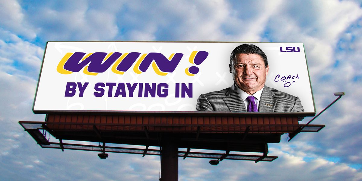LSU puts up billboards encouraging staying home amid COVID-19 outbreak