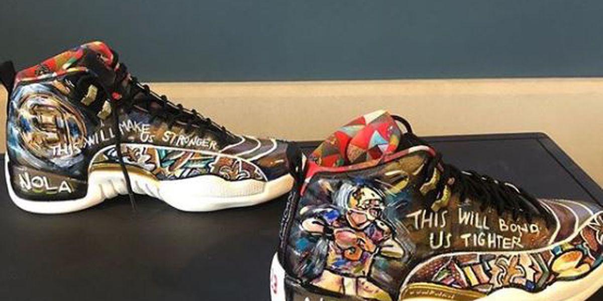 New Orleans Oscar nominee rocks custom Saints shoes on red carpet