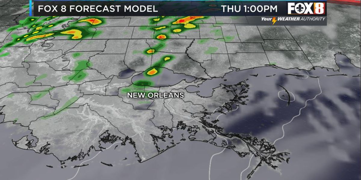 BRUCE: Windy day, low rain threat; stray strong storms possible