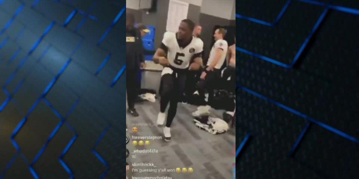 "Teddy Bridgewater ""Bike life"" dance taking over the Saints locker room"
