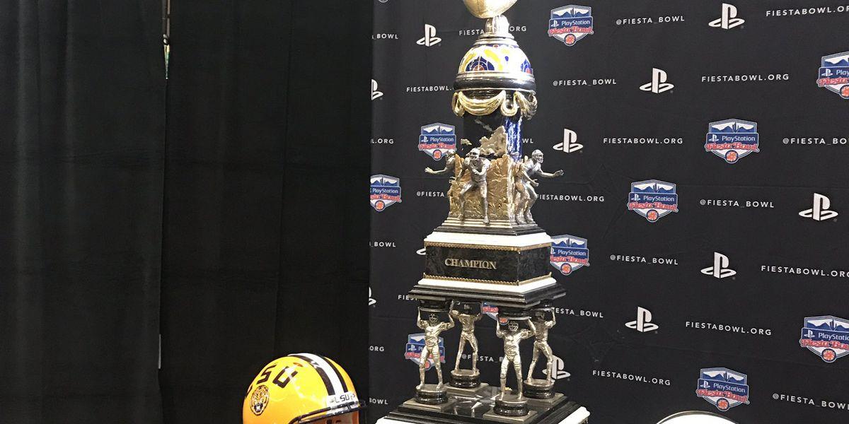 LSU Tigers face UCF Knights in Fiesta Bowl