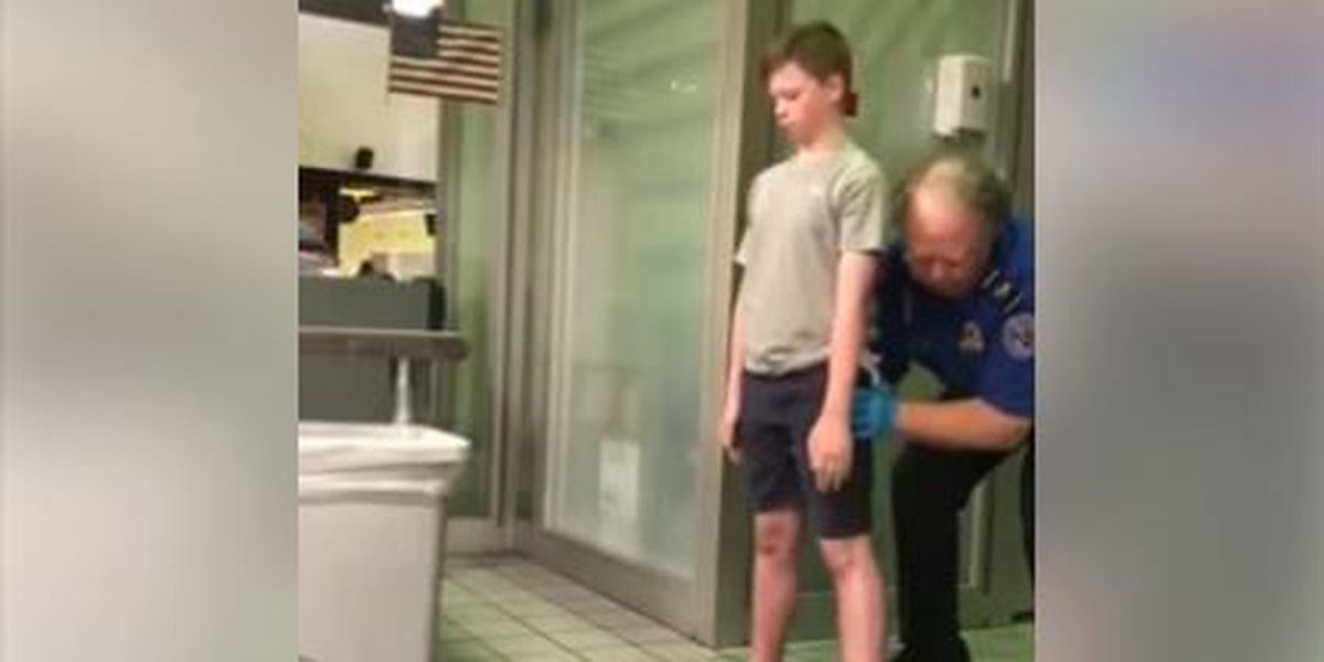 Mom films 'traumatizing' pat-down of disabled son by TSA agent