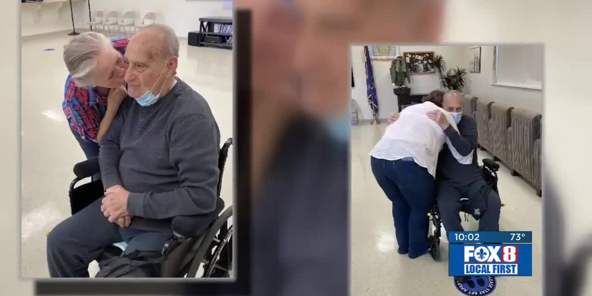 Family members reunited with hugs after nursing home restrictions lifted