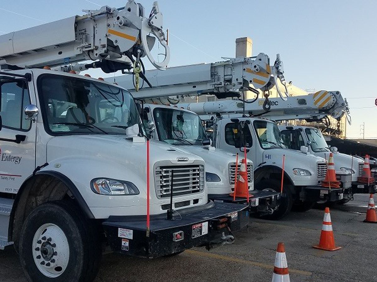 Over 9,000 Entergy customers without power in Orleans Parish