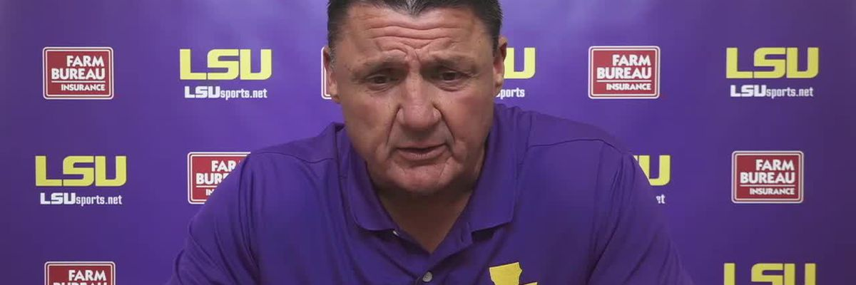 Orgeron talks Finley, defense, injuries, and more