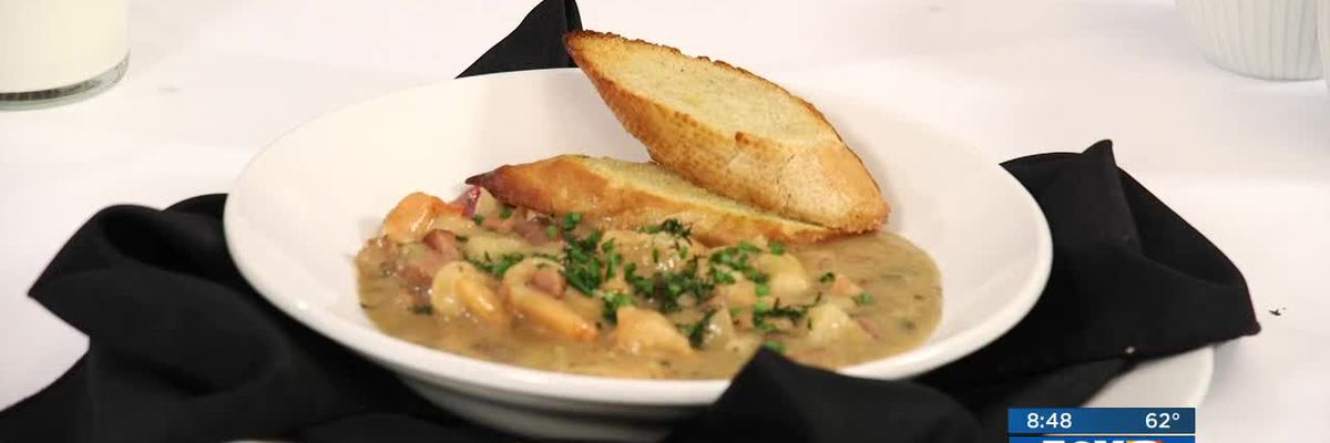 Chef John Folse: Grandpa's potato, shrimp, ham & sausage soup