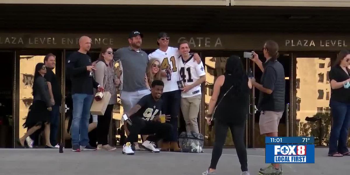 3,000 fans watch Saints game in Superdome for the 1st time this season