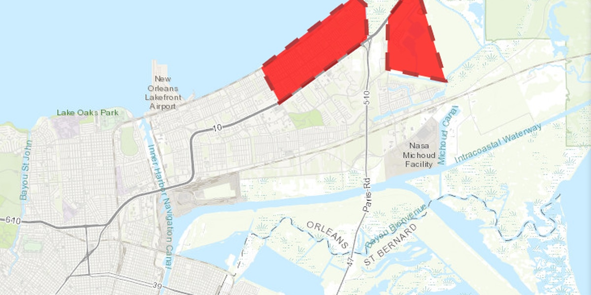 Boil water advisory issued for parts of New Orleans East