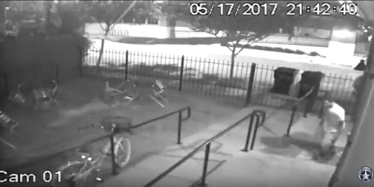 Burglary suspect moves surveillance camera too late